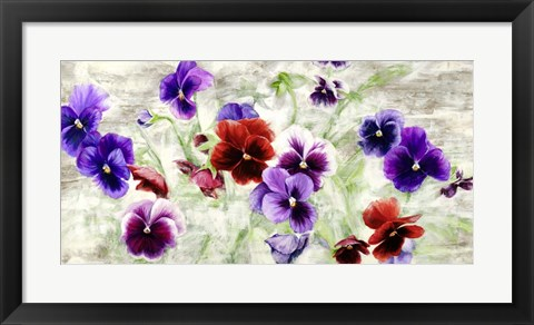 Framed Field of Pansies Print