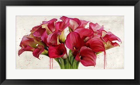 Framed Calla Abstraction Print
