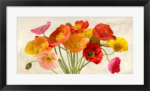 Framed Poppies in Spring Print
