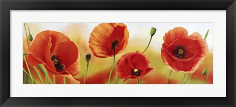 Framed Poppies in the Wind Print
