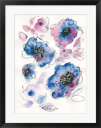 Framed Blue Notes II Print