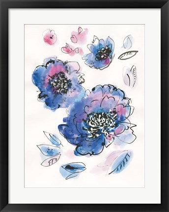 Framed Blue Notes III Print