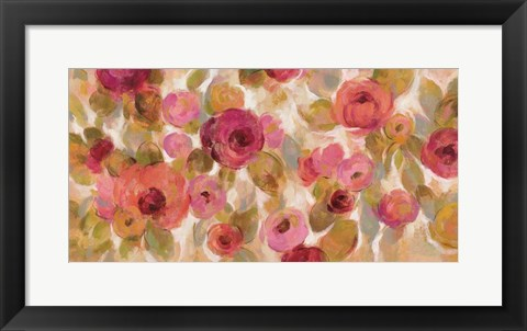 Framed Glorious Pink Floral I Print