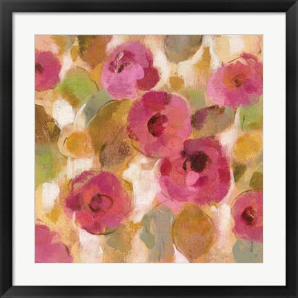 Framed Glorious Pink Floral III Print