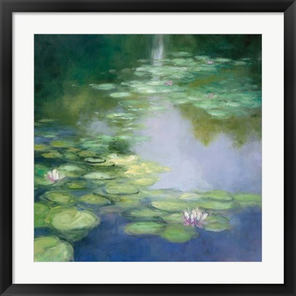 Framed Blue Lily I Print