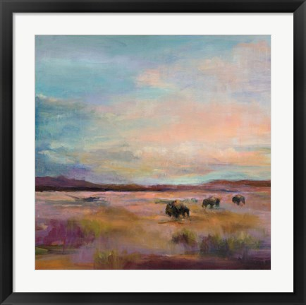 Framed Buffalo Under Big Sky Print