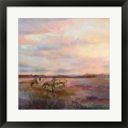 Framed Mustangs Under Big Sky Print