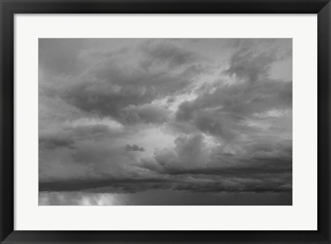 Framed Luminous Clouds II BW Print