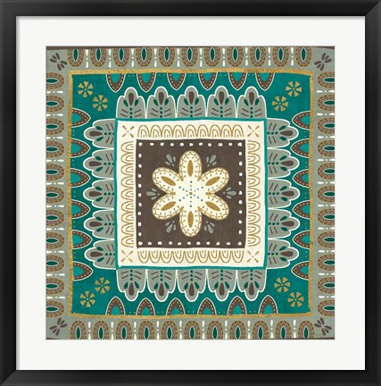 Framed Cool Feathers Tiles II Print