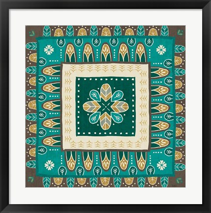 Framed Cool Feathers Tiles III Print