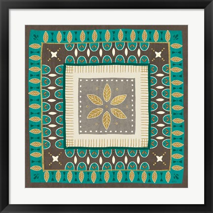 Framed Cool Feathers Tiles IV Print
