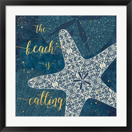 Framed Coastal Lace II Print