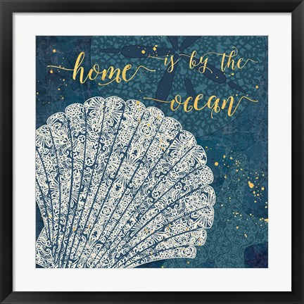 Framed Coastal Lace III Print