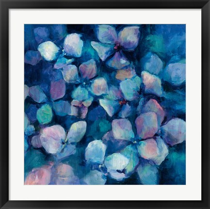 Framed Midnight Blue Hydrangeas Print