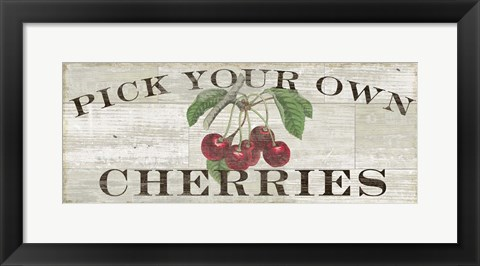 Framed Farm Fresh Cherries Print
