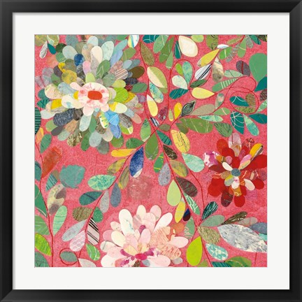 Framed Red and Pink Dahlia III Print