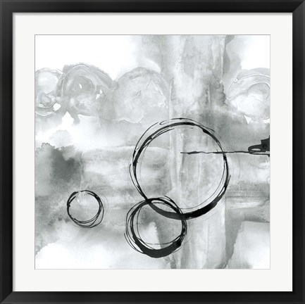 Framed Full Circle II Gray Print