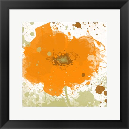 Framed Modern Orange Print