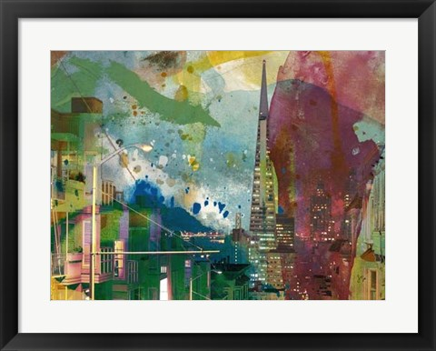 Framed San Francisco Buildings I Print