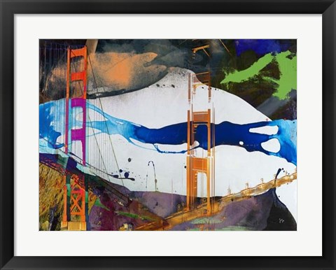Framed San Francisco Bridge Abstract I Print