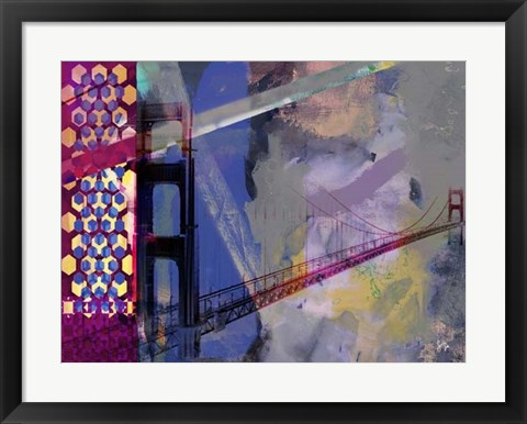 Framed San Francisco Bridge Abstract II Print