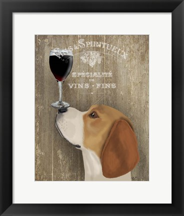 Framed Dog Au Vin Beagle Print