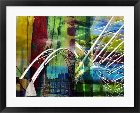 Framed Denver Bridge Print