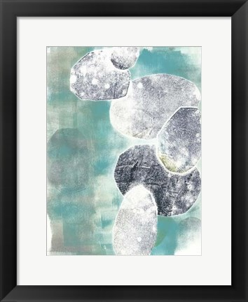 Framed Descending Orbs II Print