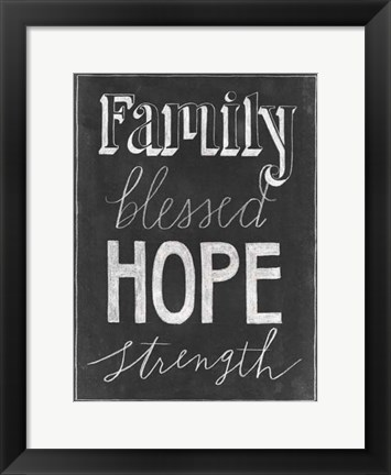 Framed Chalkboard Faith IV Print