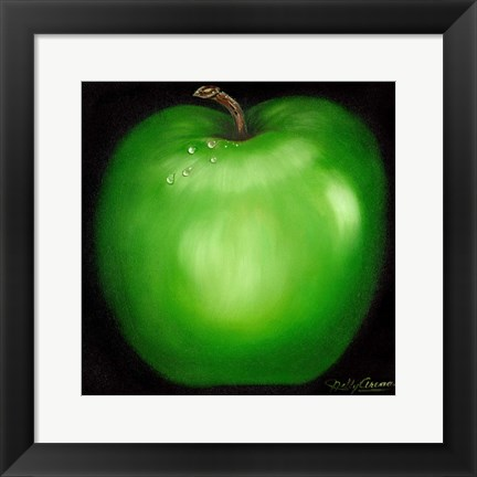 Framed Green Apple Print