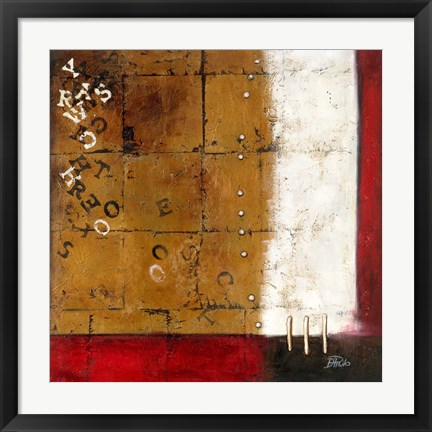 Framed Red Contemporary III Print