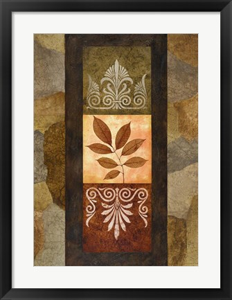 Framed Golden Leaves II Print
