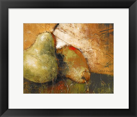 Framed Pear Study I Print