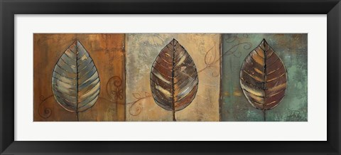 Framed New Leaf Panel II Print