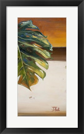 Framed Green Leaf II Print