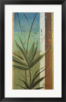 Framed Bamboo & Stripes I Print