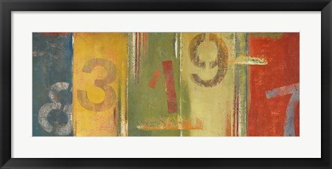 Framed Lucky Numbers II Print
