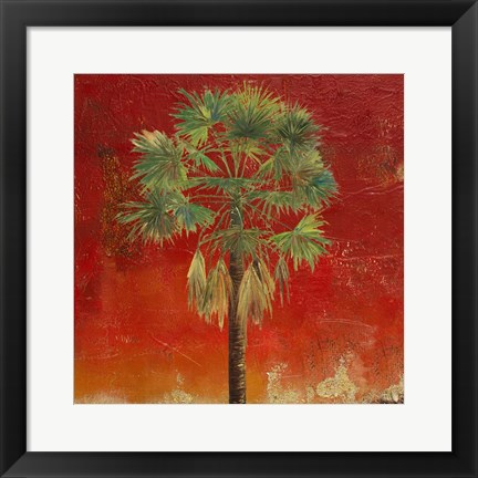 Framed La Palma on Red IV Print