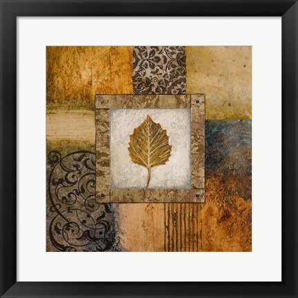 Framed Fallen Leaf III (yellow) Print