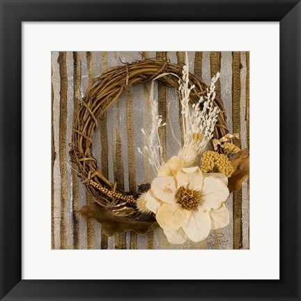 Framed Wreath II Print