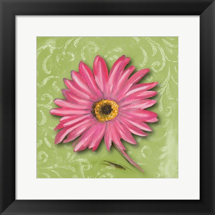 Framed Blooming Daisy I Print