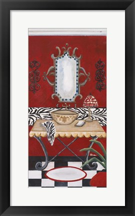 Framed Palm Beach Bath I Print