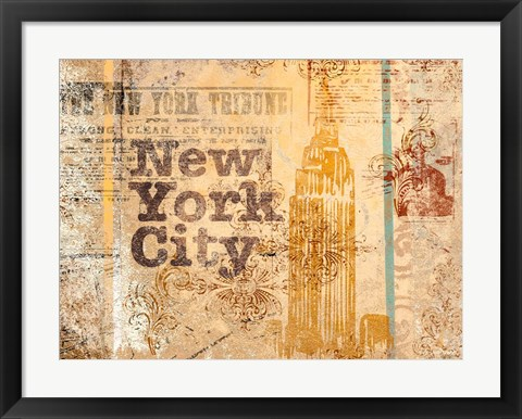 Framed New York Postcard Print