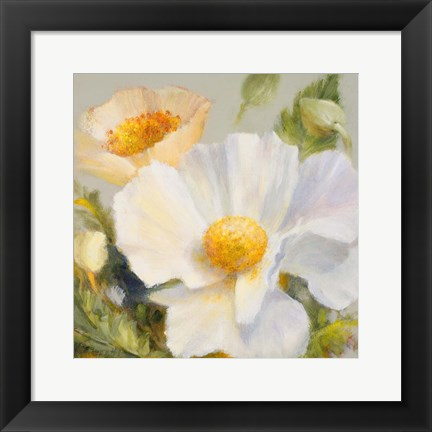 Framed Sunbeam Flowers II Print