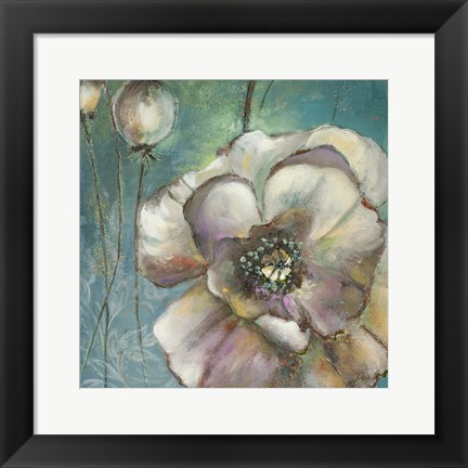 Framed Blue Poppies II Print