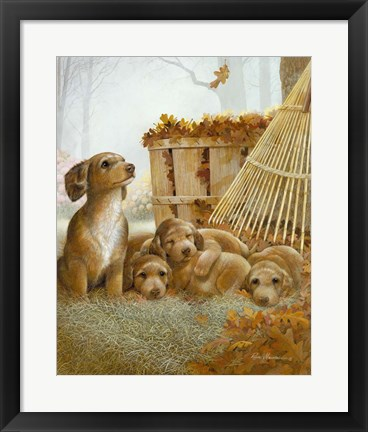Framed Autumn Playtime Print