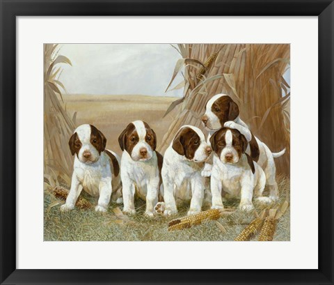 Framed Belle's Pups Print