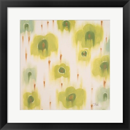 Framed Green Bloom Print