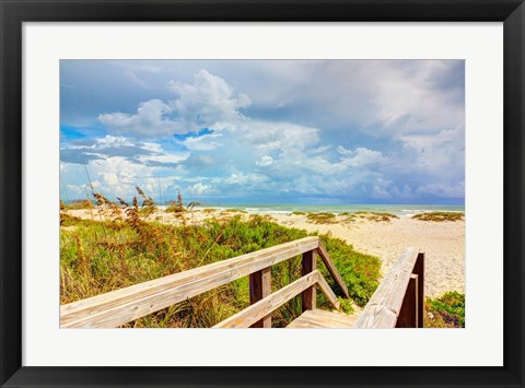 Framed Beach Island I Print