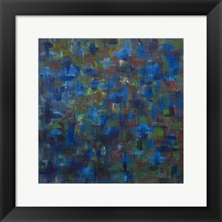 Framed Mixed Emotions in Blue I Print